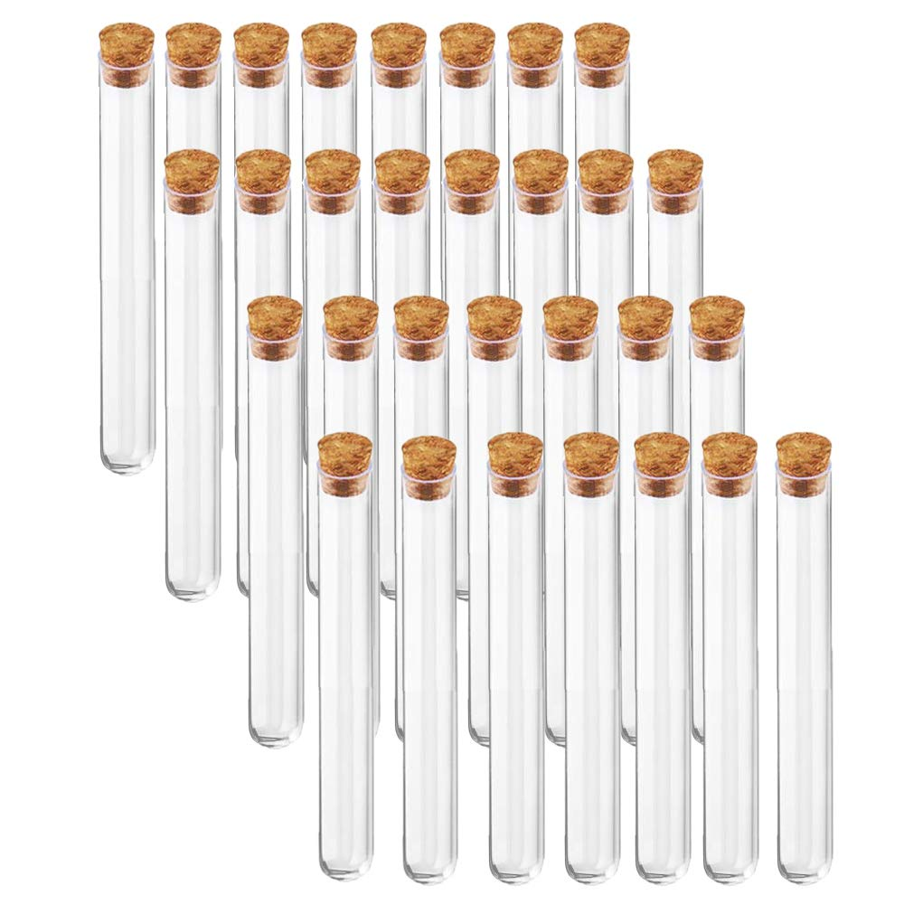 30 PCS Baltimore Ranking TOP12 Mall Glass Test Tube 15x150mm 2 Cork Tubes Stoppers with