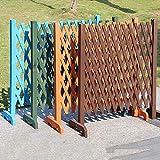 DYCUN Expanding Holzgartenmauer Zaun-Panel Fabrik Climb Trellis Trennwand Dekorative Gartenzaun for Haus-Garten-Dekoration (Color : Green)