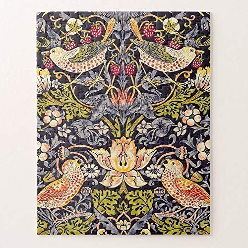 William Morris   Strawberry Thief Floral Art Nouveau Puzzles for Adults, 1000 Piece Kids Jigsaw Puzzles Game Toys Gift for Children Boys and Girls, 20