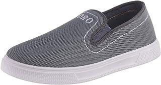 Testa Toro Elastic Side Panel Embroidered-Logo Round-Toe Slip-on Sneakers for Men