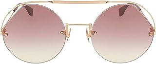 Fendi FF 0325/S QHO 3X Cyclamen Metal Round Sunglasses Pink Gradient Lens