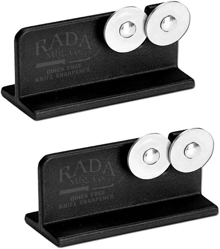 Rada MFG Rada Cutlery Quick Edge Knife Sharpener With Hardened Steel Wheels 2 Pack