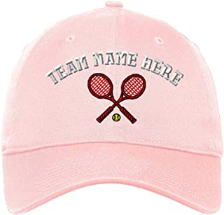 Custom LowProfileSoft Hat Tennis Racquets A Embroidery Team Name Cotton