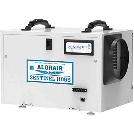 ALORAIR Basement/Crawl Space Dehumidifiers Removal 120 PPD (Saturation), 55 Pint Commercial Dehumidifier, Energy Star Listed, 5 Years Warranty, Auto Defrosting, cETL, Optional Remote Monitoring