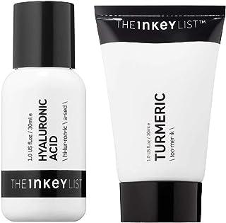 The Inkey List Anti Wrinkles & Fine Lines Skincare Set! Turmeric Moisturizer Cream And Hyaluronic Acid Serum! Hydrating Face Serum and Moisturizing Cream! Anti-Aging Cream & Serum For Youthful Skin!