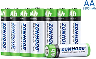 AA Rechargeable Batteries, AA Batteries 2800mAh High-Capacity AA Batteries Rechargeable AABatteries 1.2V Ni-MH Low Self Discharge (8pack)