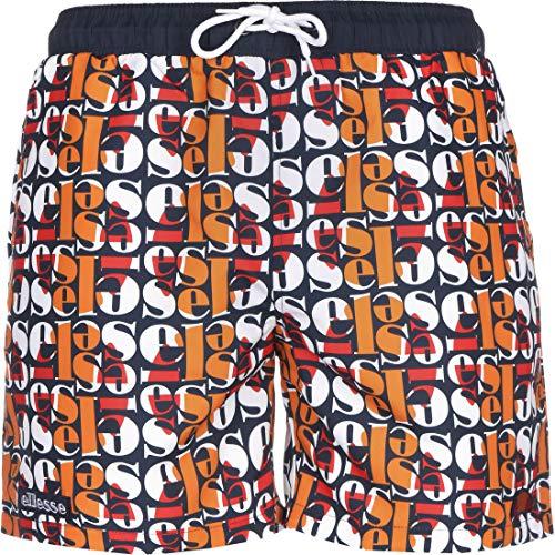ellesse Badehose Herren Lecce Swim Short Mehrfarbig All Over Print, Größe:L