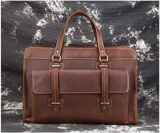 Mens Bag Top Layer Leather Business Travel Bag Retro Men's Bag Leather Handbag Crazy Horse Leather Men's Bag High capacity