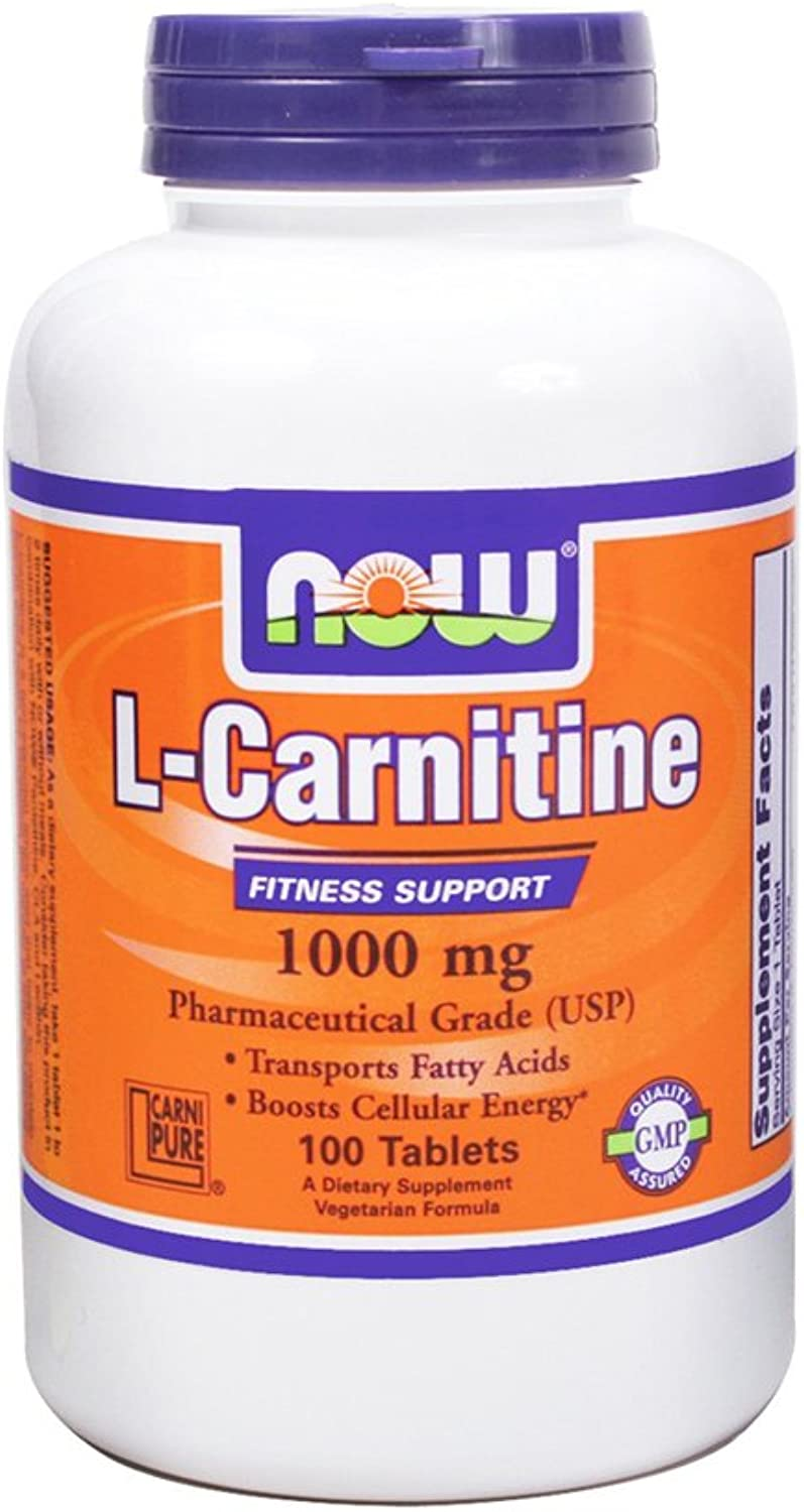 NOW Foods LCarnitine 1000 Mg  100 Tabs 3 Pack