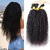 pelo humano rizado natural pelo humano brasileño cabello virgen brasileño extensiones de cabello color negro natural total 300g (100 +/-5g)/ pc 8 10 12 pulgadas