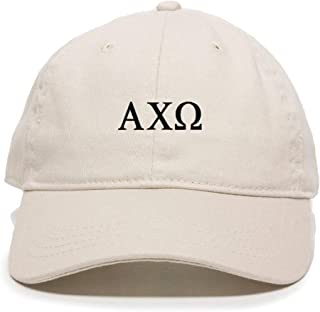 Alpha Chi Omega Baseball Cap Embroidered Cotton Adjustable Dad Hat