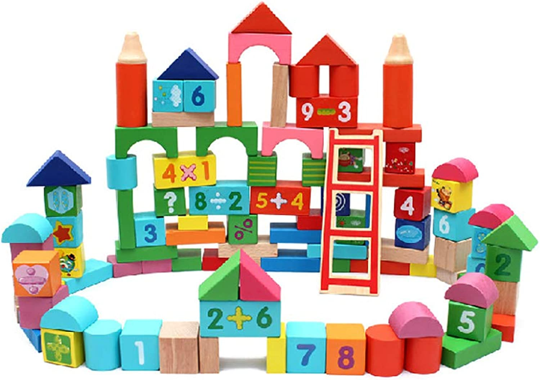 Un. Kinderspielzeug Bausteine Holz 100 Tabletten Eukalyptus Puzzle Nummer