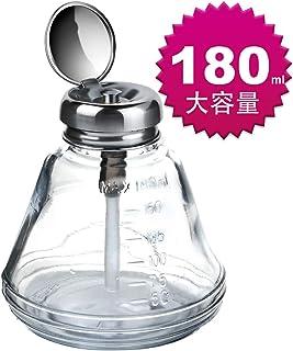 Teenitor ハンドラップ ガラス製 180ml ガラス製容器 目盛付き 消毒 アルコール ボトル ガラスびん 無水アルコール用 ネイルオフ用 靴磨き用 顕微鏡レンズの清掃用