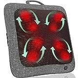 Keenray Home Massagegeräte mit Wärme, Shiatsu-Massagekissen mit Tiefengewebeknetung für Nacken und Rücken, tragbares elektrisches Rückenmassagekissen, Geschenke für Männer und Frauen