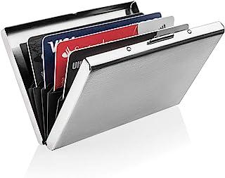 Ultra-slim Metal Brushed Steel RFID Blocking Wallet Slim Anti-Scan Contactless Keyless Credit Card Holder