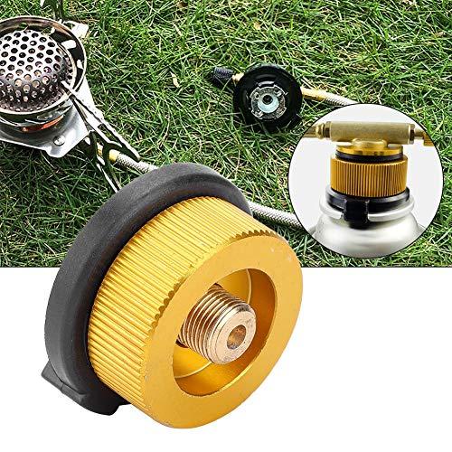 Conector de estufa, accesorios prácticos de electrodomésticos Función automática de cierre hecha de alta temperatura resistente y aleación de cobre y aluminio para quemador de camping al aire libre