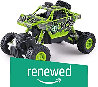 (Renewed) The Flyers Bay Big and Mean Rock Crawling Scale Modified Hummer RC Monster Truck, Green King