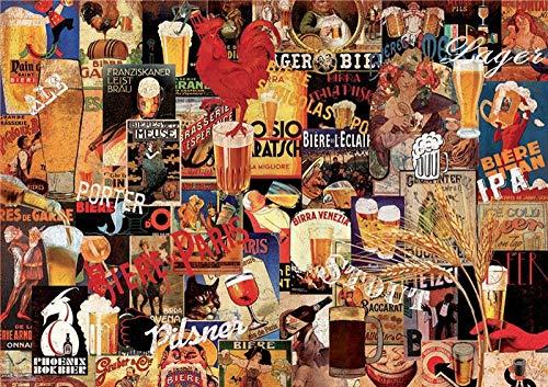 Rugslv Klassische Puzzles Puzzle 1000 Teile Erwachsene Verschiedene Biere Freizeitpuzzle Bildung DIY