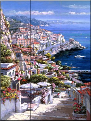Ceramic Tile Mural - Amalfi 1 - da Sam Parco / Soho Editions - splashback Cucina / doccia Bagno