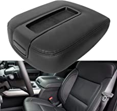 QKPARTS Center Console Armrest Lid Cover Synthetic Leather For Chevy Silverado 1500/ 2500 /3500/LT/ LTZ/ LS 2007-2014