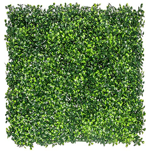 """12PCS 20""""x20"""" Artificial Boxwood Panels Topiary Hedge Plant, Green Privacy Fence Screen Outdoor &Indoor UV Protection Decoration Artificial Hedges Boxwood for Patio/Backyard/Background/Fencing/Home"""