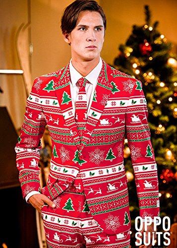 Preisvergleich Produktbild Mens Weihnachten Winter Wonderland Oppo Anzug Large (EU54 UK44)