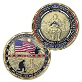 Military Veteran Challenge Coin United States We Stand for The Flag We Kneel for The Fallen