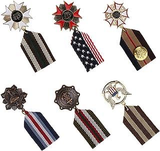 B Baosity 6 Pezzi Medaglia Militare Uniforme Distintivo Retro Accessorio Moda per Collezionisti