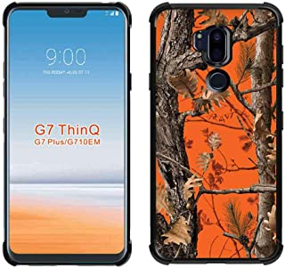 LG G7 Case/LG G7 ThinQ Orange Camo Case, ABLOOMBOX Shock Absorption Soft Bumper Slim Rubber Protective Case Cover with Reinforced Corners for LG G7 ThinQ (2018)