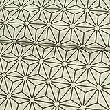 Dekostoff grafisches Würfel Stern Muster natur
