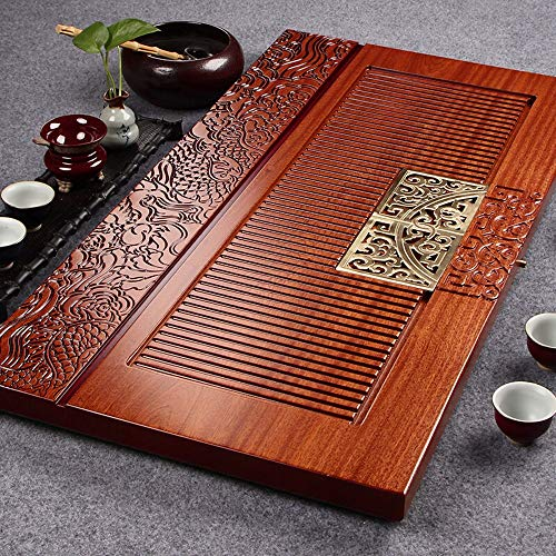 Sale!! Tea Tray Retro Style Tea Serving Carving Designed Tasteful Japanese Chinese Gongfu Tea Tray f...