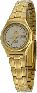 Orient #FNQ1S002C Women's Gold Tone Tri Star Gold Dial Automatic Watch