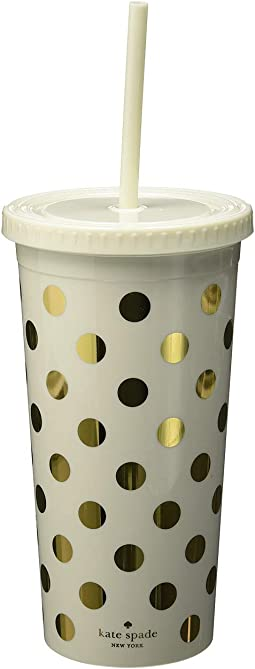 Dots Tumbler with Straw
