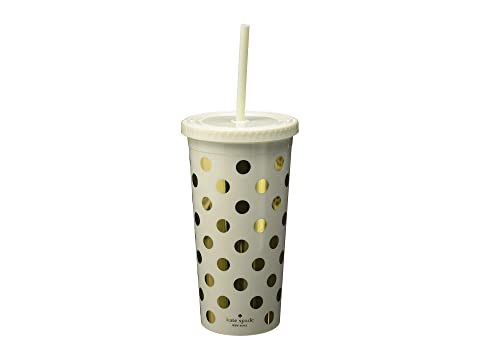 Kate Spade New York Dots Tumbler with Straw