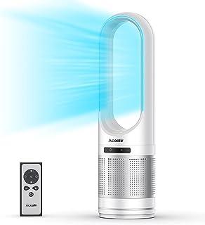 Ventilateur Colonne, Ventilateur Tour Oscillant à 80° avec Télécommande, Nettoyage Facile, 8 Vitesses, Minuterie de 8 Heur...