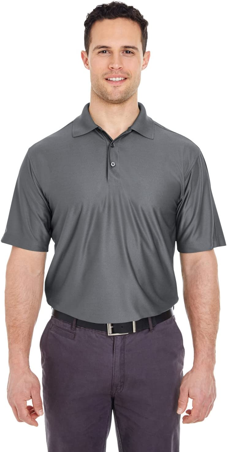 UltraClub Mens Tall Cool & Dry Elite Performance Polo (8415T) Charcoal XLT