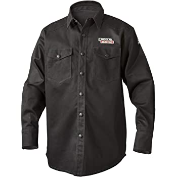 Lincoln Electric Welding Shirt | Premium Flame Resistant (FR) Cotton  | Custom Fit | Black | Large | K3113-L