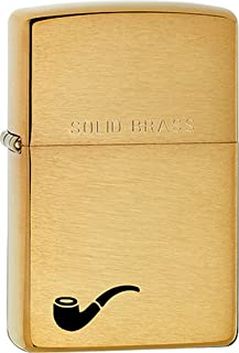 Genuine Solid Brass Pipe Lighter with Pipe Logo Zippo Lighter