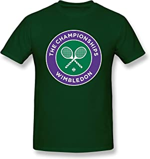 Peetigya Mens 2016 Wimbledon Championships Four Grand Slam Tennis Tournament Logo Cool T-Shirt Forest Green with Short Sleeve