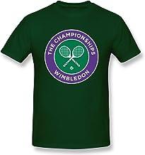 Peetigya Mens 2016 Wimbledon Championships Four Grand Slam Tennis Tournament Logo Cool T-Shirt Forest Green with Short Sleeve