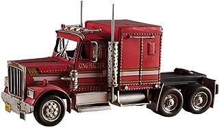 طراز قديم قديم من الحديد الصناعي طراز شاحنة Optimus Prime كبيرة لتزيين خزائن النبيذ
