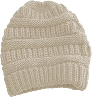 Cable Knit Slouchy Beanie Skull Cap