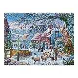 Hunnry A_Winter_Stroll_v1_Current Puzzle 1000 Stück für Erwachsene & Familien Klassische Puzzle Fine Motive Fotopuzzle Kunstsammlung 75 x 50 cm
