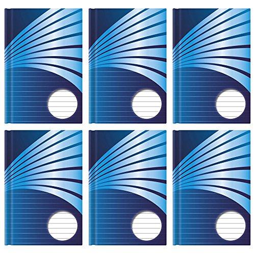 Stylex® Kladde A5 weiße Blätter 6 Stück Notizbuch 76380 liniert