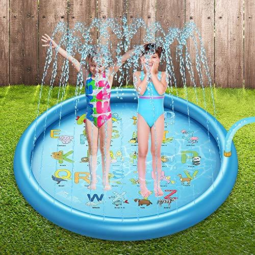 Gicleur d'eau Splash, Tapis De Jeu pour Tout-Petits, Garçons, Fille, Jouets Gonflables pour Enfants, Fête D'été en Plein Air pour Enfants, Pataugeoire Extérieure