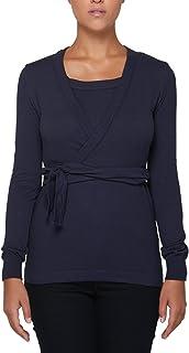 SENSI' Canotta con Coprispalle Coordinato Donna Incrociata con Cintura Lana Senza Cuciture Seamless - Made in Italy