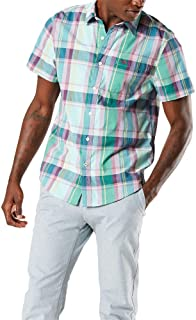 Dockers Men's Short Sleeve Button-Down Modern Fit Supreme Flex Poplin Shirt