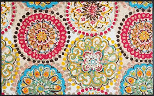 wash+dry Fußmatte, Vintage Fresko 75x120 cm, innen und außen, waschbar