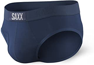 SAXX Underwear Men's Briefs – ULTRA Men's Underwear – Briefs for Men with Built-In BallPark Pouch Support, Navy, Medium