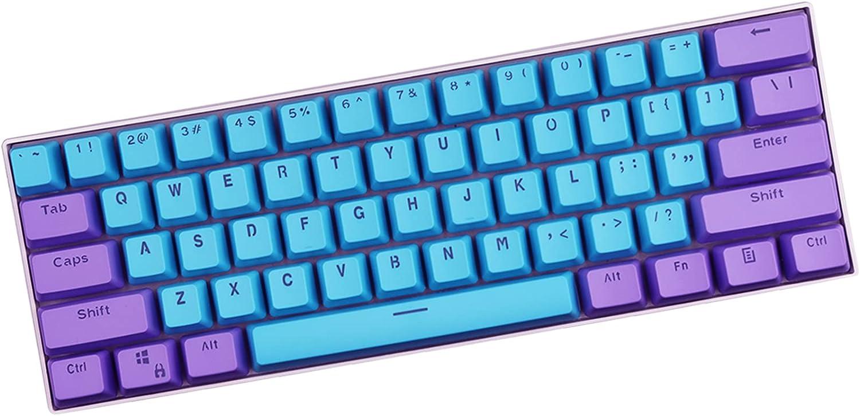 Sunzit Keycaps, 61 Teclas Keycaps Backlight Bicolor PBT Keycap para GH60 / RK61 / ALT61 / Annie/Keyboard Poker Keys (Vender Solo Teclas)